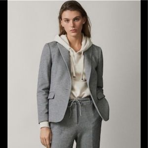 Massimo Dutti Gray Weekend Essentials Wool Jacket